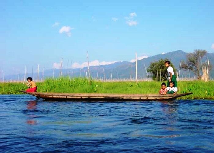 Travel to Burma Kids in Inle Lake Magical Indochina